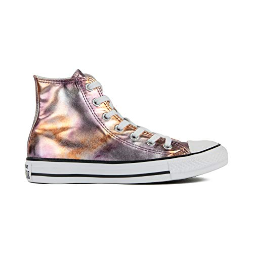 Converse Chuck Taylor All Star High Classic CTAS Hi Unisex Canvas Sneaker mit 7kmh Aufkleber Pink 6557 36
