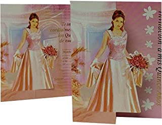 Mis Quince Anos Invitations Sweet 15 Invitations in Spanish 12 count