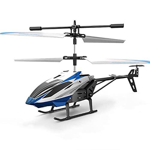 Kikioo Resistenza alla caduta elicotteri RC a induzione a infrarossi a 2,5 canali, luce a LED per velivoli telecomandati senza fili a 2,4 GHz, droni RC giocattolo giroscopio per interni all'aperto reg