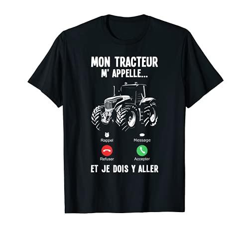 Hommes Conducteur Tracteur Agriculteur Tracteur Amour T-Shirt