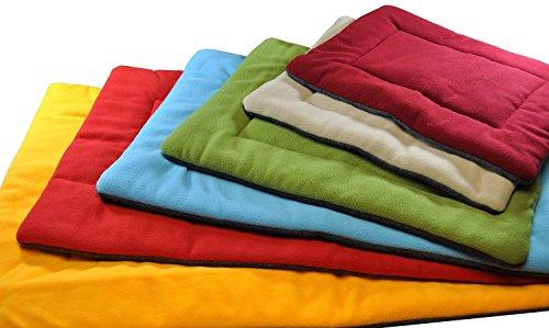 Vivi Bear Bekväm fleece vinterhundar varm sovmatta, valp eller kattunge tupplur golv sömn säng Capad husdjur madrass spjällsäng orange 5 storlekar (S (60 x 40 x 40 cm) )
