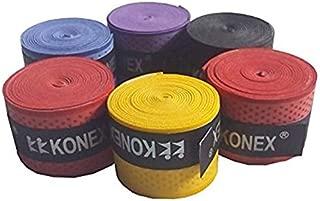 Konex Multipurpose Badminton/Tennis/Squash Racket Super Tacky Touch Grip (Pack of 5)