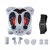 Busirsiz Ccsme Vibrador masajeador de pies, pies electromagnética Circulación Masajeador Corporal máquina de la Terapia, 99 Tipos de Intensidad de la Onda electromagnética, Control Remoto