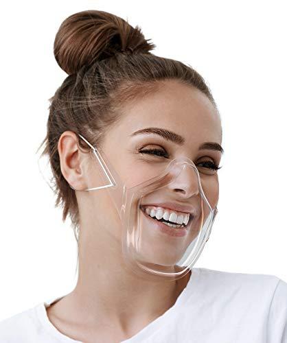 AIR:Code® Mundschutz Maske Mund Nasenschutz Wiederverwendbare Schutzmaske aus PET | Nasenschutz Plastik Gesichtsmaske Visier Gesichtsschutz Mundvisier