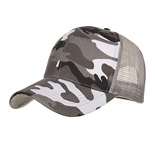 Gorra de béisbol de cola de caballo para mujer Sombrero de malla...