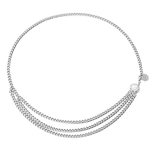 Sharplace Damen Kettengürtel Taillengürtel Fashion Metall Moderne Taillen Kette Gürtel Bauchtanz Schmuck - Silber