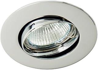 Empotrable basculante y orientable Zamack circular (Halógeno o LED) (Cromo)