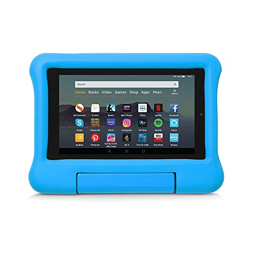 Kid-Proof Case for Fire 7 Tablet | Compatible with 9th-Generation Tablet (2019 release), Blue