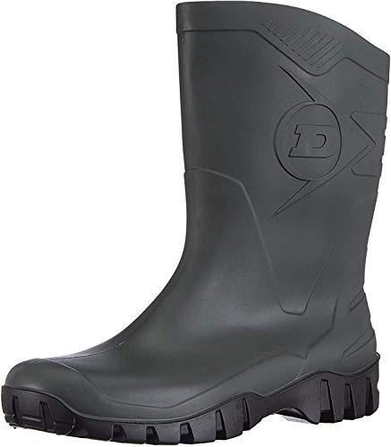 Dunlop HEVEA Unisex-Gummistiefel, halbe Länge, weite Wade, Schwarz, Grün - grün dunkelgrün - Größe: 42 EU