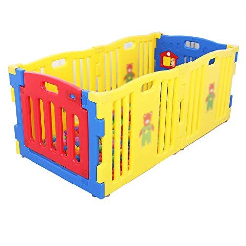 HTL Cerca Del Juego Infantil, Valla de Seguridad Del Bebé Del Bebé de Protección Del Hogar Cerca Del Niño Interior Asamblea Océano Ball Pool 79 * 3.5 * 63Cm Game House,B