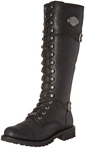 HARLEY-DAVIDSON FOOTWEAR womens Beechwood Work Boot, Black, 8.5 US