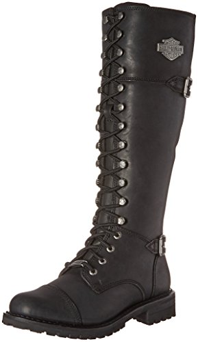 Harley-Davidson Women's Beechwood Work Boot, Black, 7.5 M US