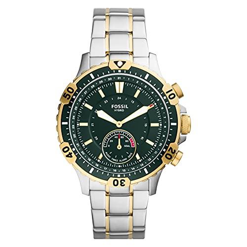 Fossil - Garrett Hybrid Smartwatch mit silbernem & goldenem Edelstahlarmband für Herren FTW1311