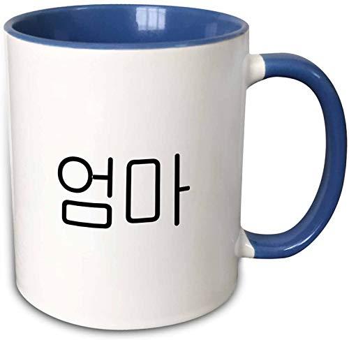 Oma-Wort für Mutter in koreanischer Schrift-Mutter in verschiedenen Sprachen Two Tone Mug, Blue 11 oz