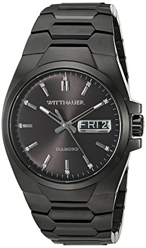 Wittnauer WN3046 Men's Brody Black Dial Black IP Steel Diamond Watch