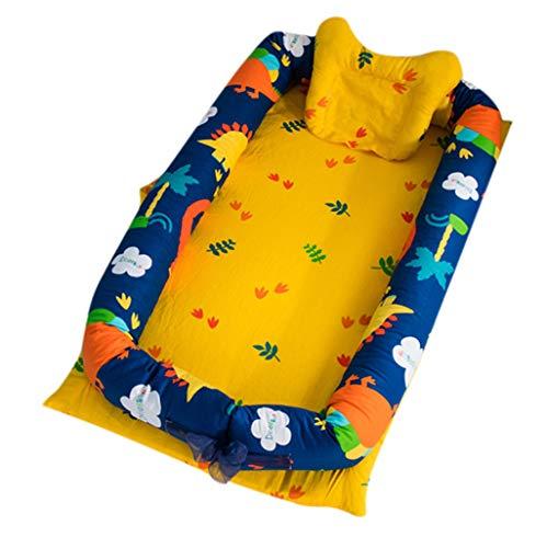 Nid de Bébé Cocon Bébé Nourrisson Cocon Réducteur de Lit Voyage Portable Cotton Super Doux Respirant Lavable Amovible Nid de Sommeil Nouveau-Né et Nourrisson 0-3 Ans Cadeau baptême (B)