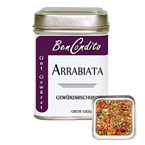 BenCondito I Arrabiata Gewürz - Italienisches Gewürzmischung für Penne Arrabiata 70 Gr. Gewürzdose