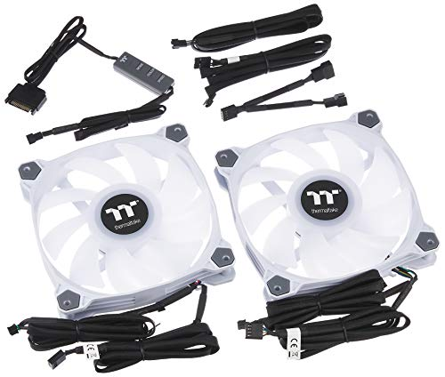 Thermaltake Pure Duo 14 ARGB Sync Radiator Fan 2 Pack White Fan CL F098 PL14SW A