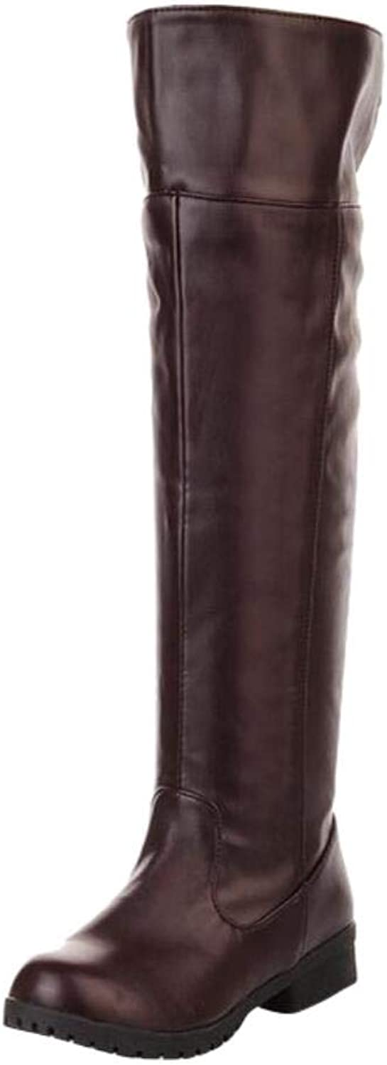 ACE SHOCK Adult Men's Cos-Play Knee-high Boot Riding Boots