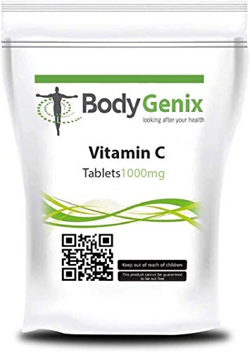 Bodygenix Vitamin C Supplements | Support Healthy Immune System | Powerful antioxidant | Smooth and Healthy Skin | 1000mg Tablets (240)