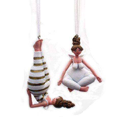 Gall&Zick Dekofigur Yoga Engel Weihnachtsdeko Hänger Christbaumschmuck Dekoration Set/2