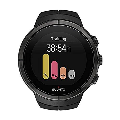 Suunto Spartan Ultra Black Titanium Unisex GPS-Uhr für Multisport-Athleten, 26 Std. Akkulaufzeit, Wasserdicht, Herzfrequenzmesser, Saphirkristallglas, Titan-Lünette, schwarz, SS022655000