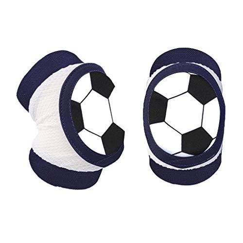 IPENNY 1 Paar Knieschoner Ellenbogenschoner Kinder Unisex Anti Kollisions Schwamm Kniepolster Baby-Krabbel-Knieschützer Baumwoll Ellenbogenschützer Fußball
