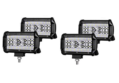 WGE Quatre rangées de lustres à LEDs, Bandes Lumineuses 144w avec Feux de Travail et antibrouillard,140Wx2