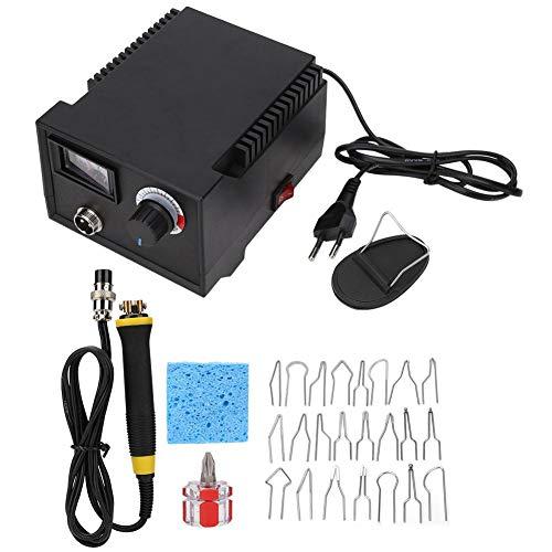 HEEPDD 28 stuks brandschildermachine, houtverbrandingskit instelbare temperatuur elektrische soldeerbout pen gereedschap voor houtsnijwerk stempel solderen LH40