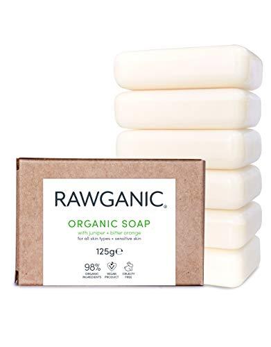 RAWGANIC® BIO Seife, für Hand und Körper - mit Extrakten aus Wacholder und Bitterorange - (6er Pack)