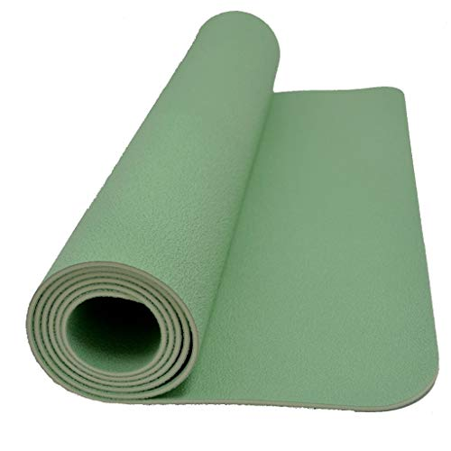 Sternitz - Tappetino PRO Yoga - Gomma Naturale - Eco-Friendly - Antiscivolo - Yoga Mat Natural Rubber (185cm x 70cm x 4mm, Verde)