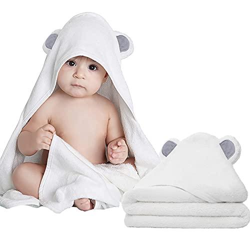 Mother And Me Toallas de Baño para Toallas Bebe con Capucha, niños pequeños, Infante - recién Nacido Esencial -Petfecto Regalo de Registro de bebé para niña, Gray