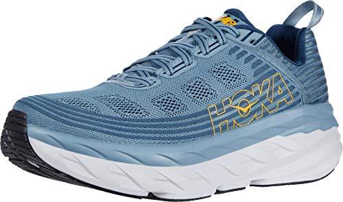 HOKA Bondi 6, Chaussures de Running pour Homme, Gris (Lead/MajolicaBlue LMCB), 49 1/3 EU