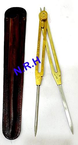 Divisor náutico proporcional, herramienta de dibujo, estuche de cuero resistente con punta de acero