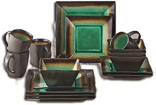 Better Homes and Gardens Jade Crackle 16-Piece Dinnerware Set