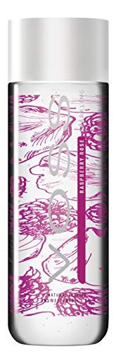 VOSS Water Flavored Sparkling Water, Raspberry Rose, 330 ml Plastic Bottles (12 Count), 134.64 Fl Oz