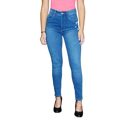 STOOKER Damen Stretch Jeans Hose - Skinny Fit - Powerstretch - Model Rio (D40/L28, Blue Denim)