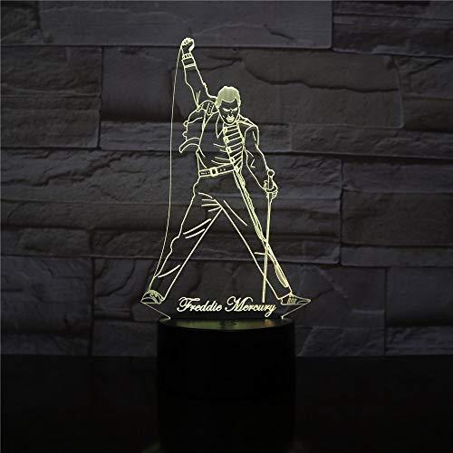 Cantante Freddy Mercury Luces nocturnas Digitales Oficina...