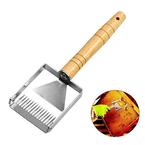 Edelstahl Bienenstock Schaber, Bienen Entdeckelungsgabel, Imker Uncapping Gabel, für Honig Extraktion und Filter Zubehör Bienenzucht Werkzeug