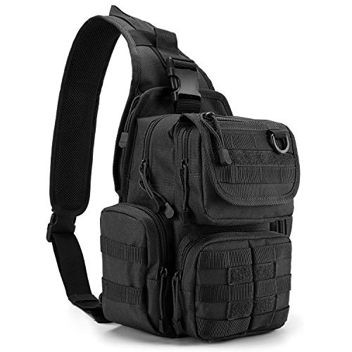 G4Free Tactical EDC Sling Bag Pack with Pistol Holster Sling Shoulder Assault Range Backpack Handgun Bag for Concealed Carry