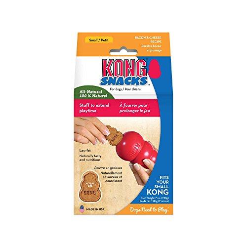 KONG - Snacks - Premi naturali per cani - Biscotti formaggio e bacon - Small (per KONG Classic)