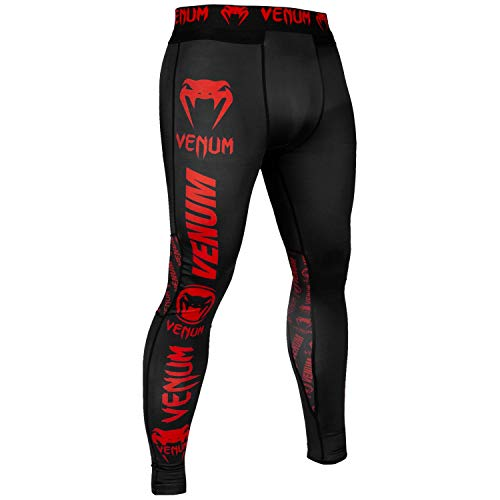 VENUM Logos Pantalones De Chandal, Hombre, Negro/Rojo, S