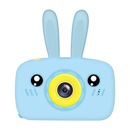 YANXS Cámara para Niños HD Juego Video Cámara de Fotos Digital con Tarjeta de Memoria de 32GB Pantalla de Protección Ocular IPS de 2 Pulgadas Prueba de Golpes,Azul