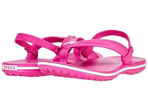Crocs Unisex Kinder Crocband Strap Flip, Electric Pink, 30-31