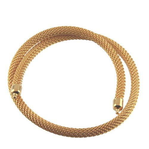 Bajonett Wechselcollier Schlauchkette - hochwertige Goldschmiedearbeit aus Deutschland - Edelstahl vergoldet - hochwertige Ausführung - 3 mm Durchmesser - Nittel System
