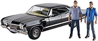 1967 Chevrolet Impala Sport Sedan with Sam and Dean Figures Supernatural (TV Series 2005) 1/18 by Greenlight 19021
