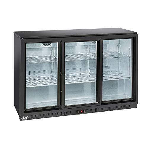 Posteriore bar refrigerato laccato nero – da 2 a 3 porte vetro scorrevole – AFI Collin Lucy – R600A 2 porte 320 litri vetro / scorrevole