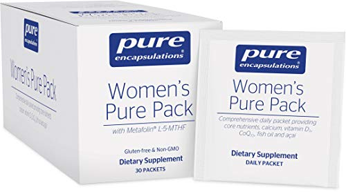 Pure Encapsulations - Women's Pure Pack - Hypoallergenic Multi-Vitamin/Mineral Complex with Omega-3 Fatty Acids, CoQ10, and Antioxidant Support - 30 Packets