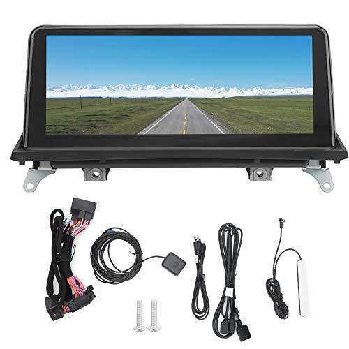 Navegación GPS para automóvil, sistema de navegación con pantalla táctil completa de 10.25 pulgadas Radio estéreo Bluetooth para Android Fit para X5 X6 2009-2013(132+32G)