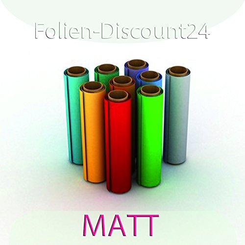 (EUR 6,33 / vierkante meter) F-D24 | gekleurde zelfklevende folie | zijden mat wit | 60cm x 200cm TOP! | Plakfolie decoratiefolie plotterfolie knutselfolie | XXL-formaat meubelfolie